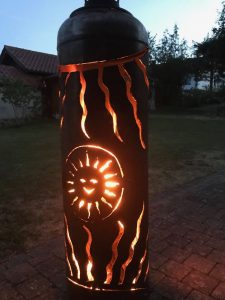 Feuerflasche Sonne