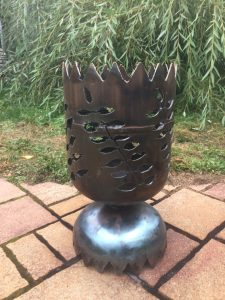 Dekorative Feuertonne