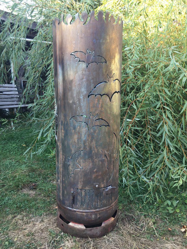 Feuertonne Fledermäuse