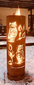 Große Kombitonne Eulen (Feuertonne oder beleuchtet)