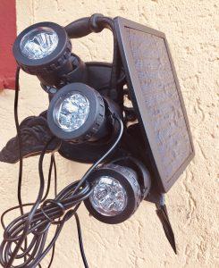 Solar-LED mit 3 Wasserdichten Leuchten mit Magnetfuß