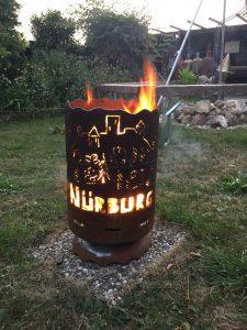 Feuertonne Nürburg