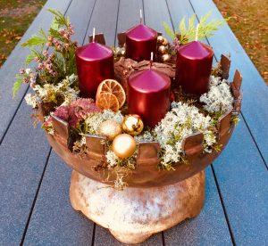 Feuerschale Adventskranz