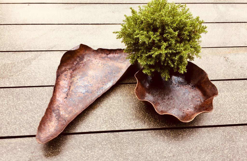 Gartenschale Rusty ca. 40 x 20 cm und 20 x 20 cm